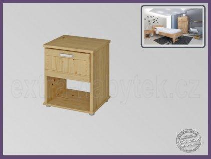 Noční stolek Sigma 192 SMRK  Stolek se zásuvkou