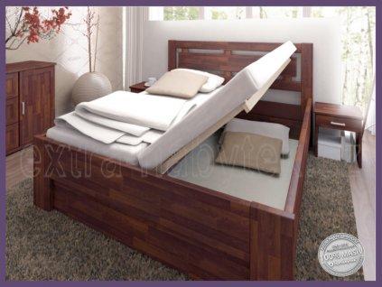Úložný prostor pevný - SUPRA 129 BUK  Velký úložný prostor pod celou postel
