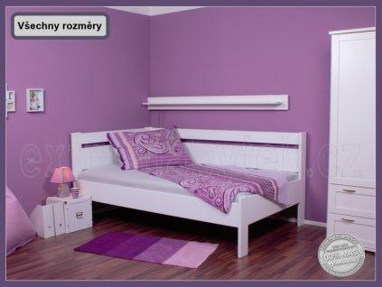Jednolůžko Tina - rohová 154 BUK  Rohová postel jednolůžko