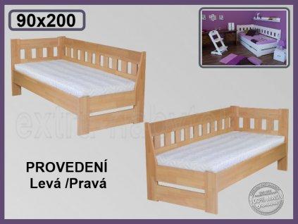Postel Arleta senior Levá/Pravá 121 BUK  Rohová postel ze dřeva