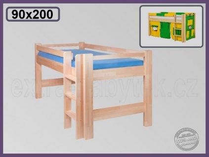Lucas zvýšená 101 BUK  Dětská zvýšená postel