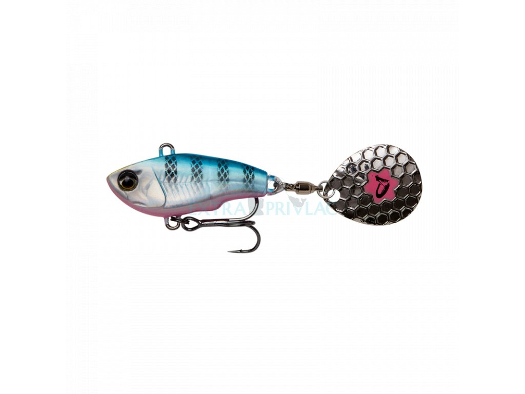 Savage Gear Fat Tail Spin Blue Silver Pink