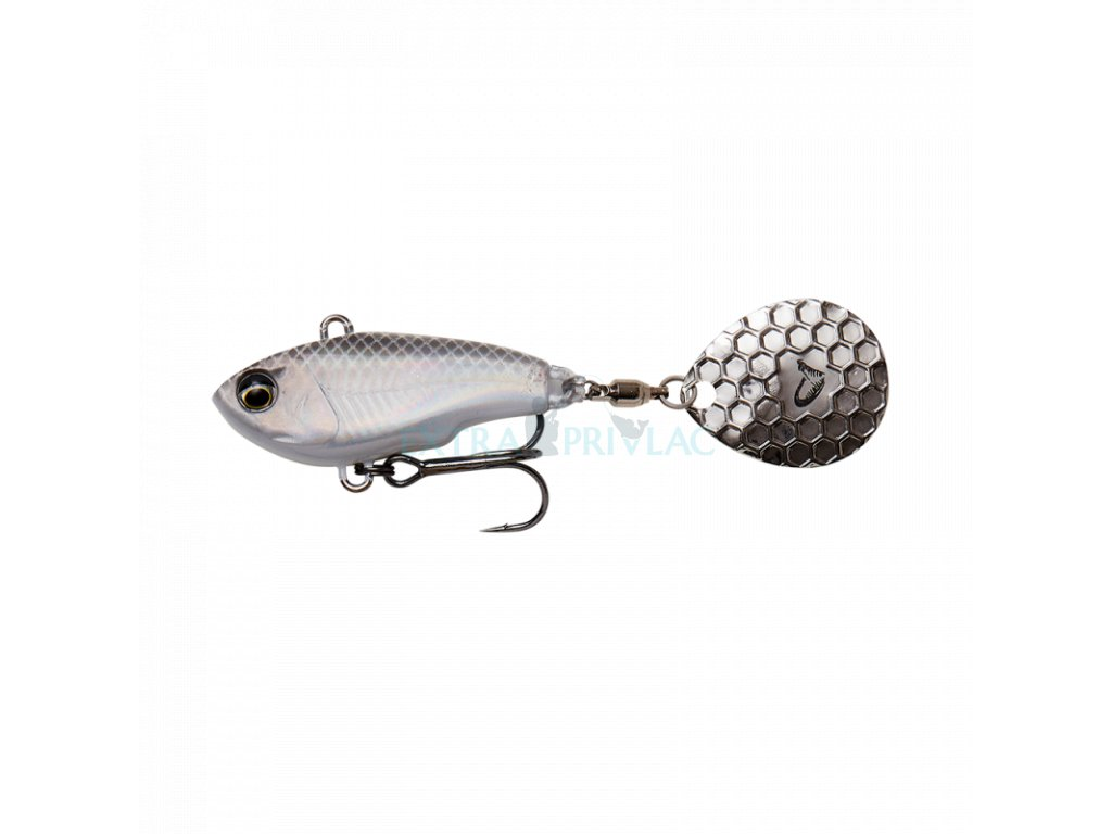 Savage Gear Fat Tail Spin White Silver