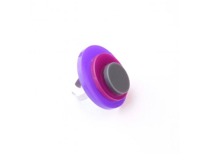 Prsten Extravagart.purplefiction 4 cm