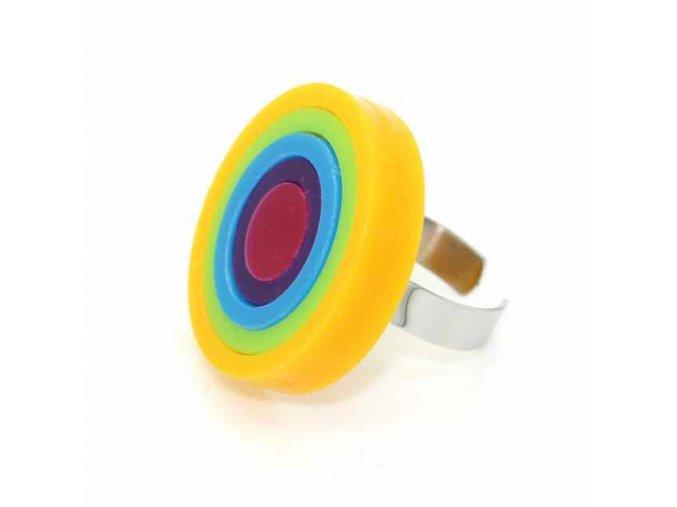 Prsten Extravagart.rainbow 4 cm