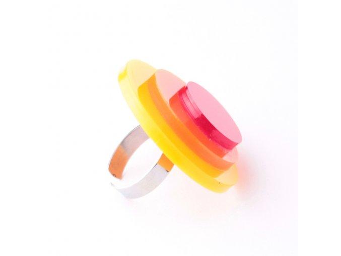 Prsten Extravagart.sunset 4 cm