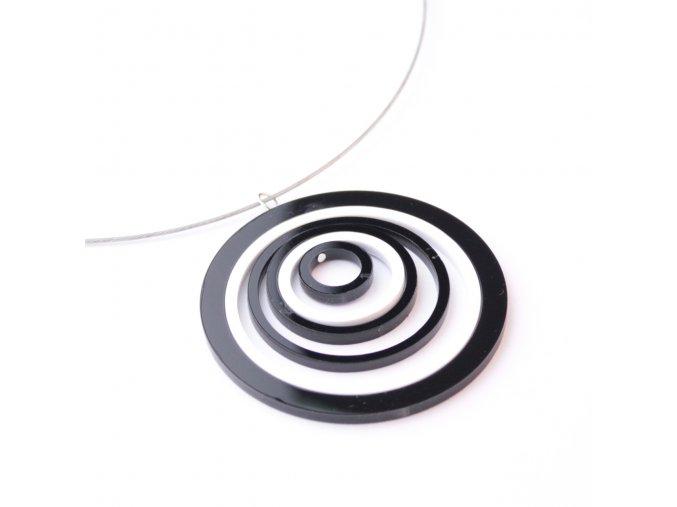 Náhrdelník Extravagart.black&white 6 cm