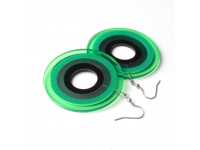 Náušnice Extravagart.green 6 cm