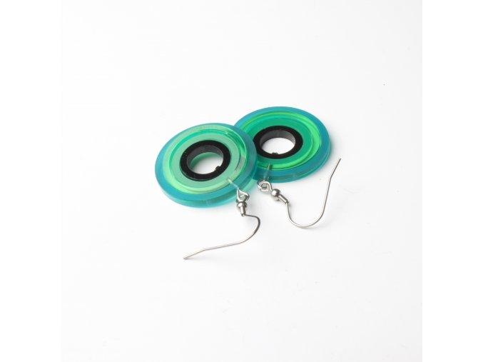 Náušnice Extravagart.green 3 cm