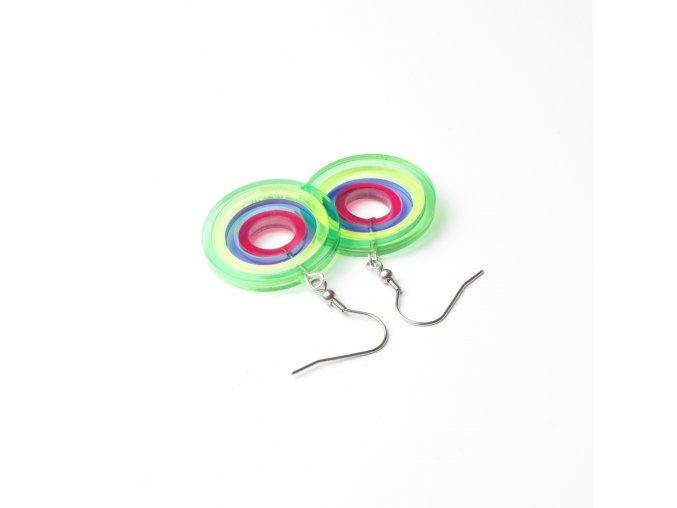Náušnice Extravagart.rainbow 3 cm
