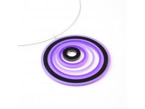 Náhrdelník Extravagart.purplefiction 7,5 cm
