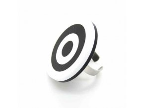 Prsten Extravagart.black&white 4 cm