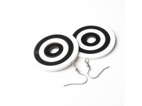 Náušnice Extravagart.black&white 5 cm
