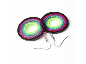Náušnice Extravagart.rainbow 4 cm