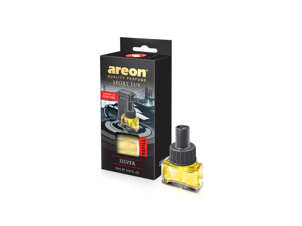 areon Car Black Silver Refill