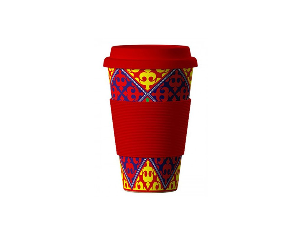 bamboo cup ornament red