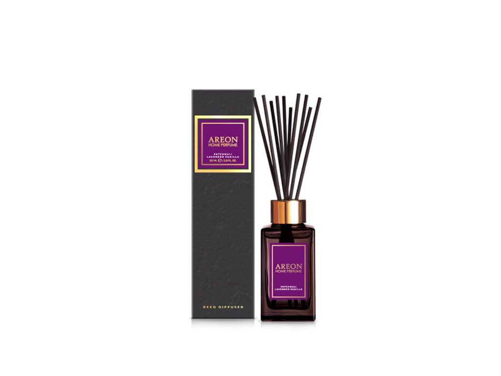 Home perfume sticks BLACK 85ml Patchouli Lavender Vanilla