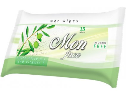 AREON WET WIPES MON - FACE OLIVE vit.E