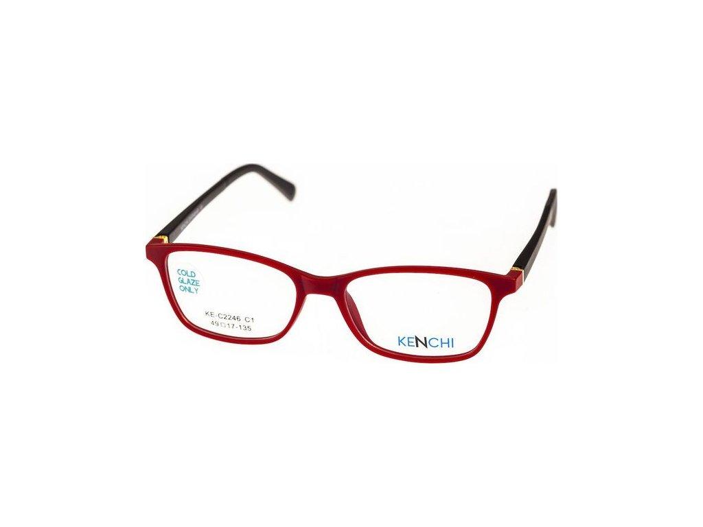 Kenchi C2246-C1 červená/černá (vč. 3ks slunečních klipů)