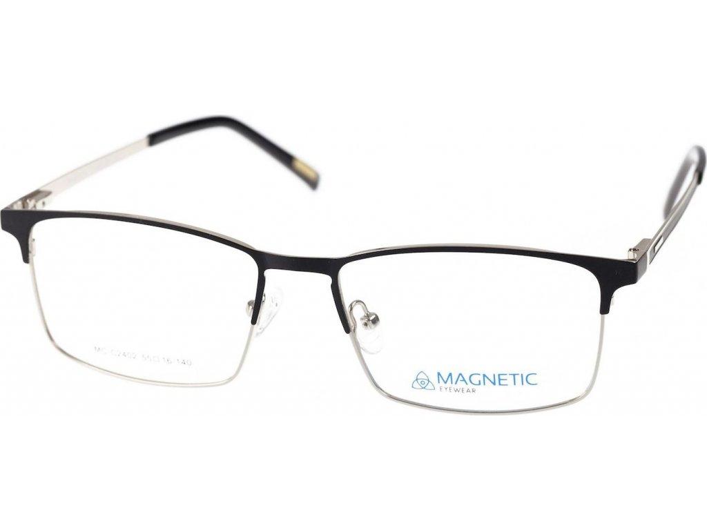 Magnetic C2402-1 černá/stříbrná (vč. 2ks slunečních klipů)