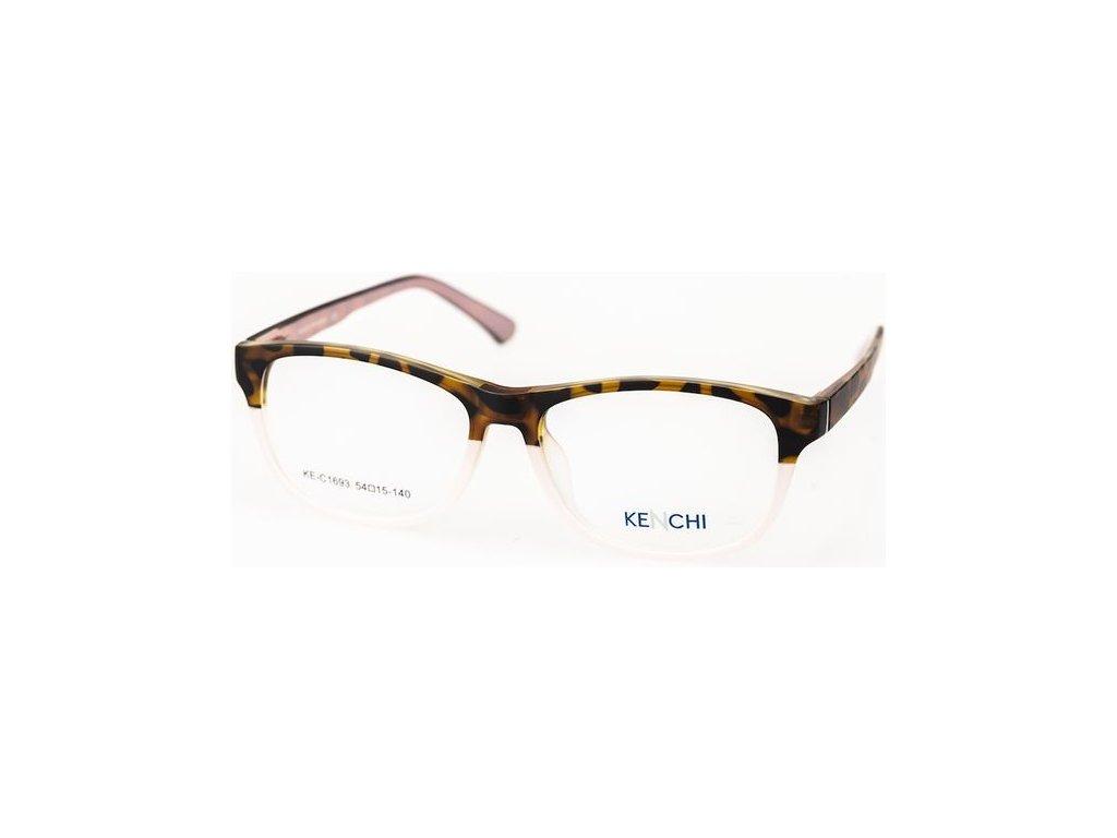 Kenchi C1693-C3 havana/růžová (vč. 3ks slunečních klipů)