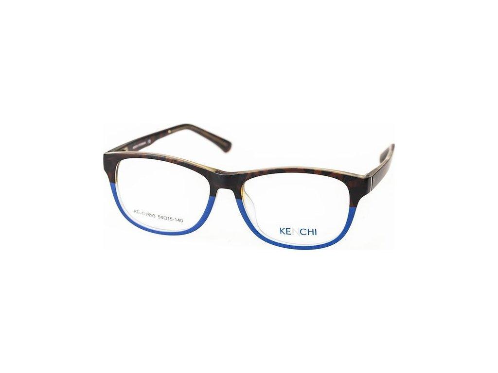 Kenchi C1693-C4 tm.havana/modrá (vč. 3ks slunečních klipů)