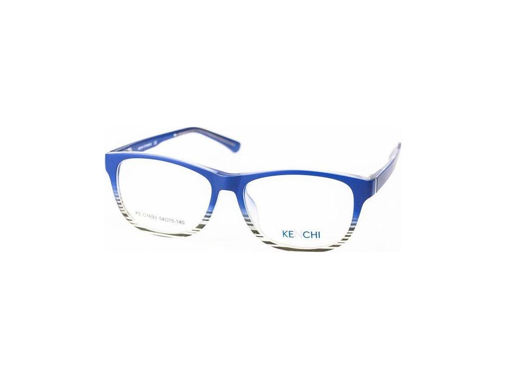 Kenchi C1693-C2 modrá/šedá (vč. 3ks slunečních klipů)