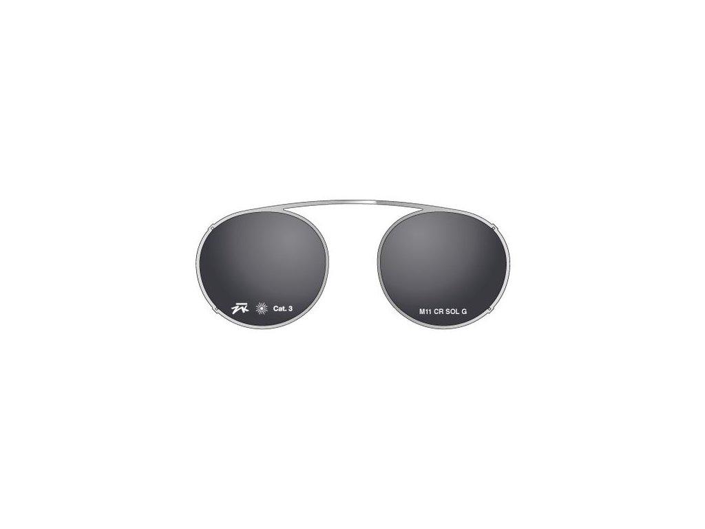 Details sluneční nácvak MOD 11 CR SOL G, (stříbrná/šedá)