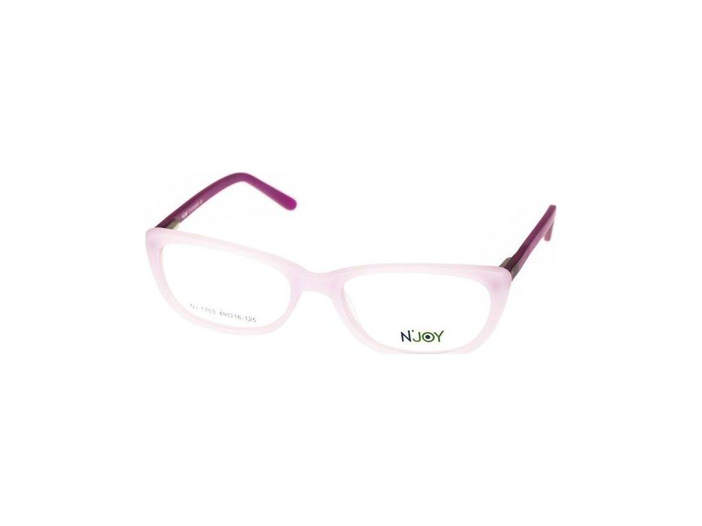 N-Joy 1703-C1 sv.růžová/fialová