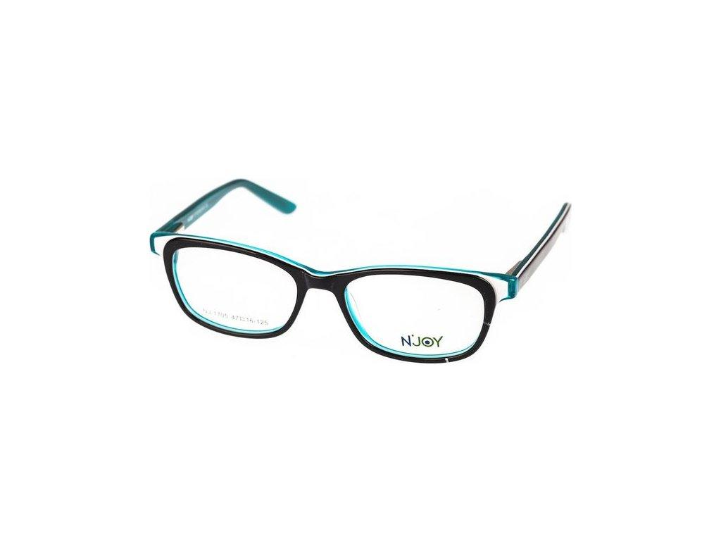 N-Joy 1705-C3 černá/zelená
