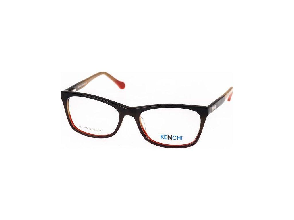 Kenchi 1719-C3 černá/hnědá/červená