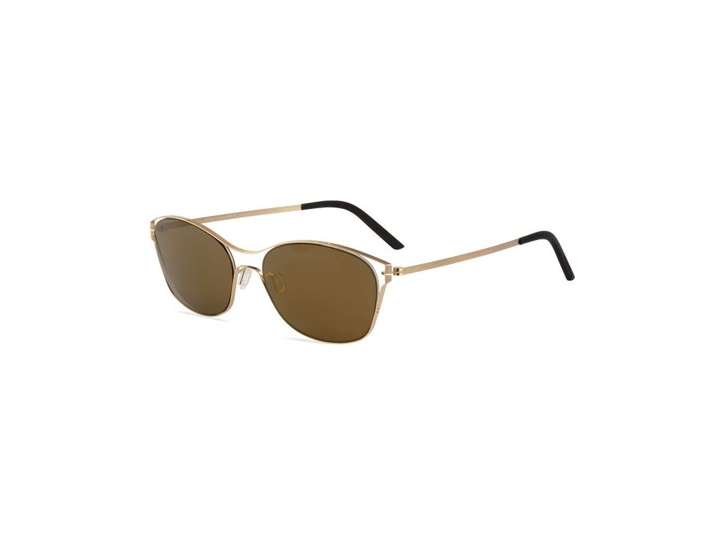 Minima Contour Sun K2-073A, Champagne Brushed (OP-Brown/Flash Gold Polarized)