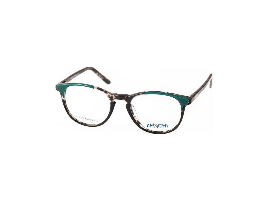 Kenchi 1721-C3 tm.zelená/černá/šedá havana