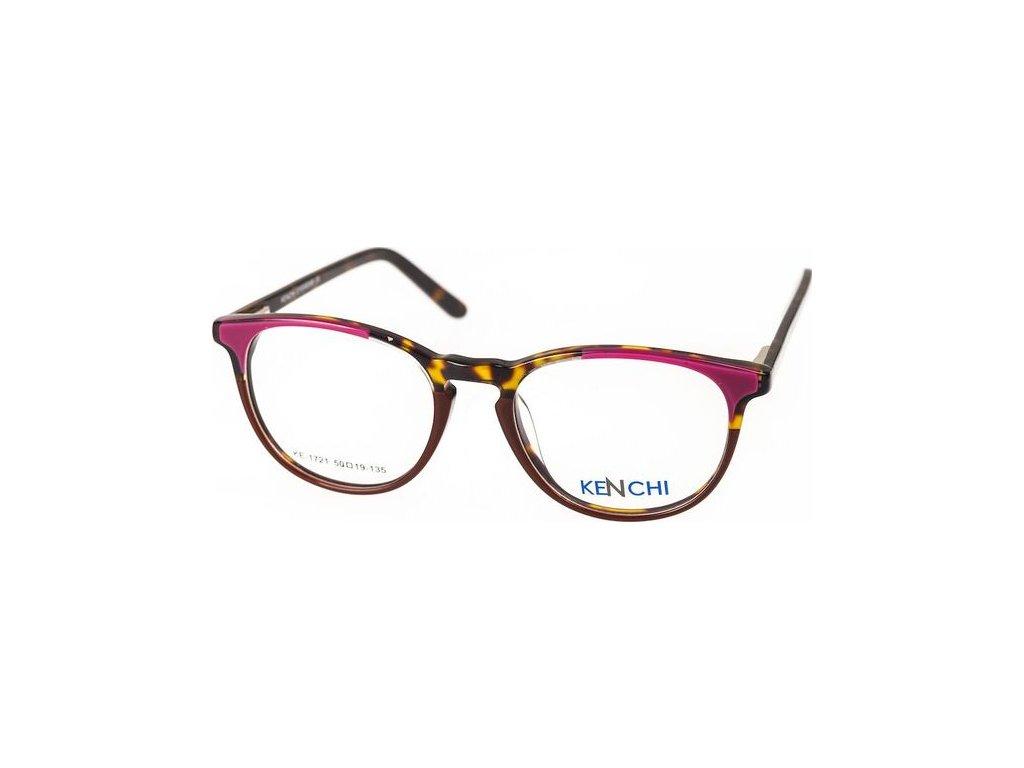 Kenchi 1721-C5 sv.fialová/hnědá/havana