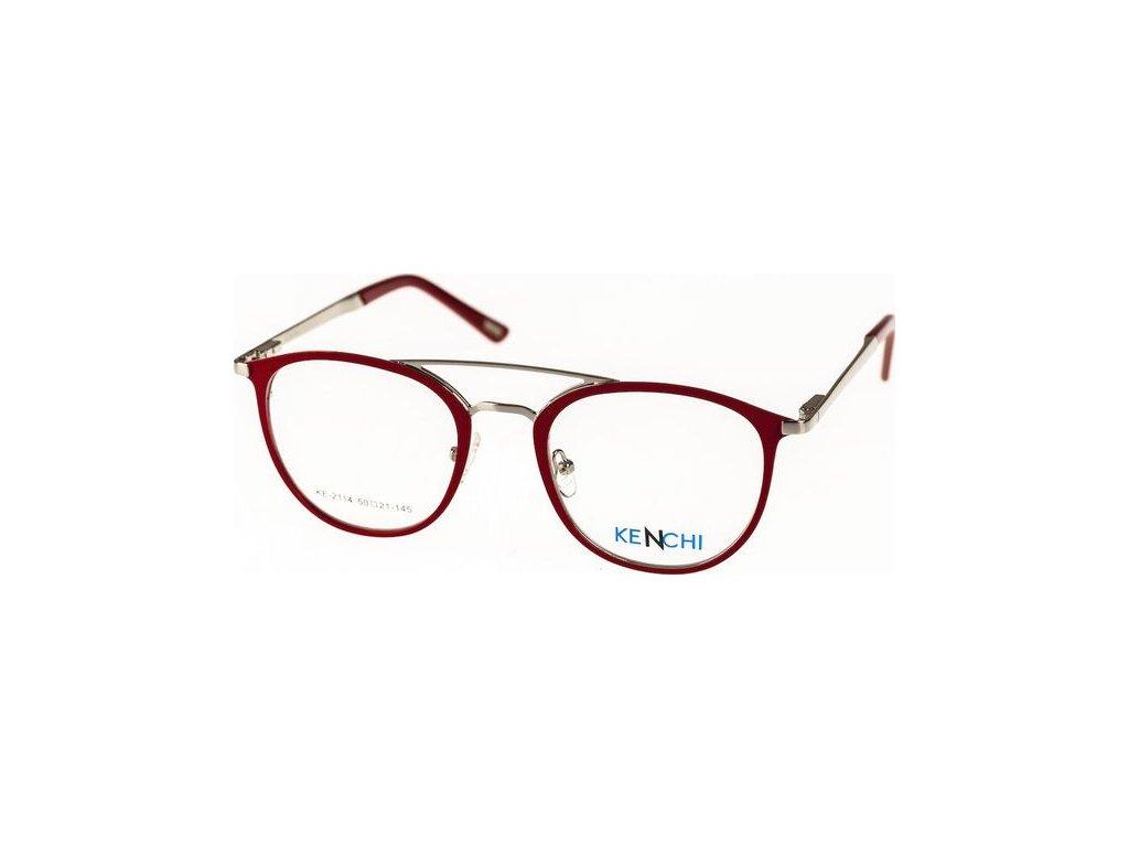 Kenchi 2114-C1 červená/stříbrná