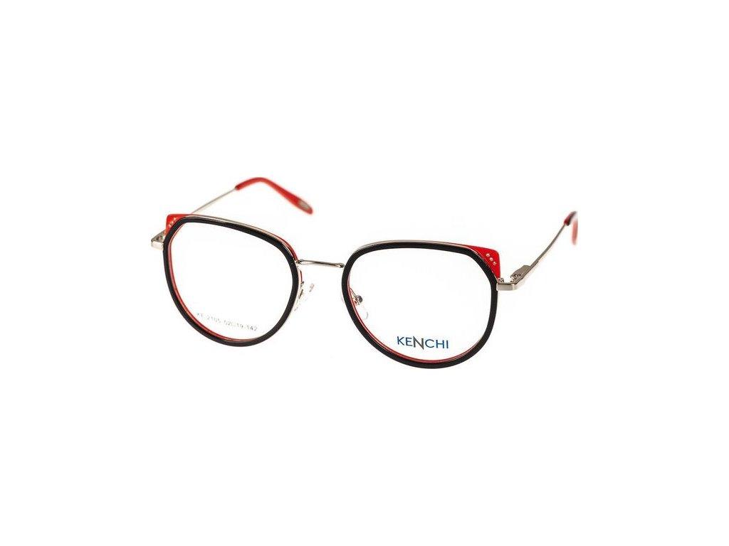 Kenchi 2105-C1 černá/červená/stříbrná