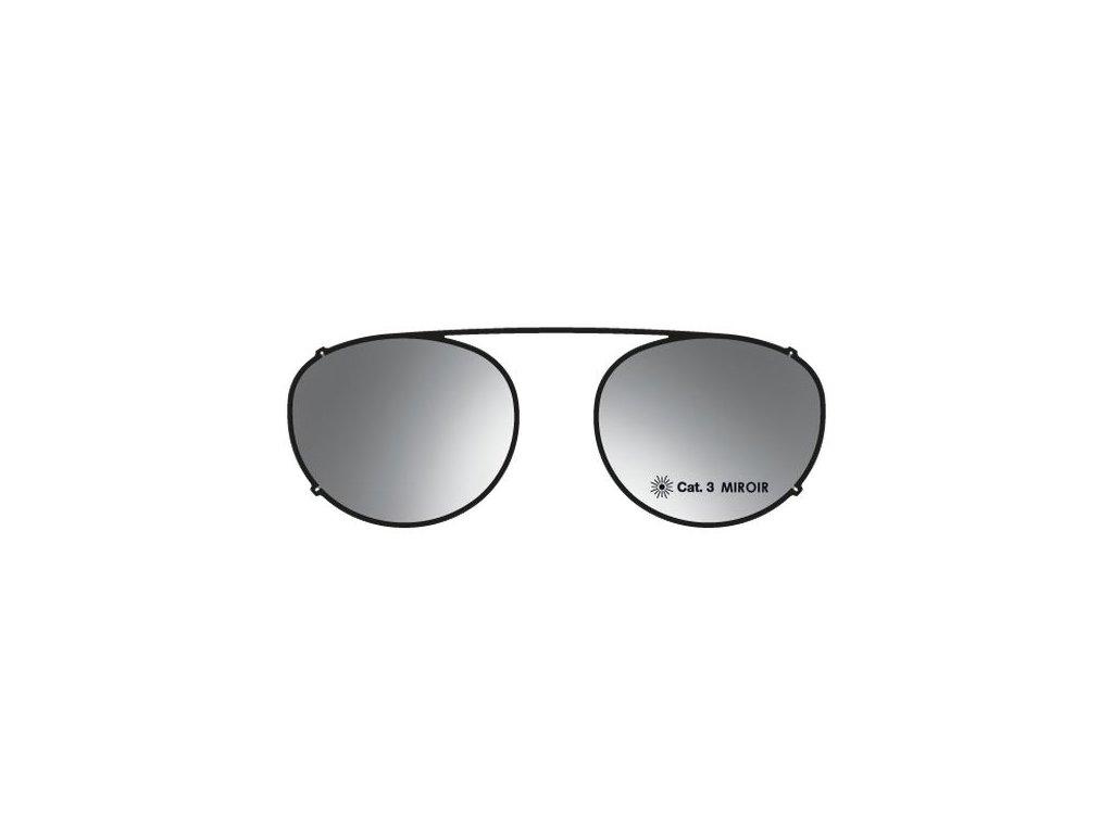Details sluneční nácvak MOD 18 ST GSV, (černá/šedostříbrné zrcadlo)