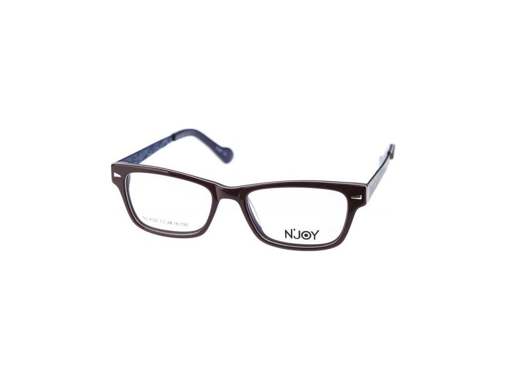N-Joy 9026-3 hnědá/tm.modrá