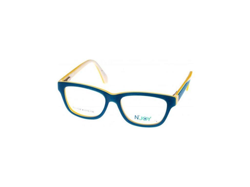 N-Joy 1128-1 tyrkysová/žlutá/béžová