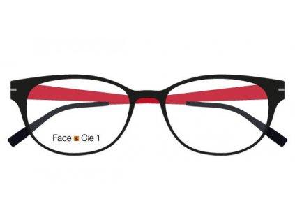 FaceCie FC 1DAB NS CE, základní obruba, (černá/červená)