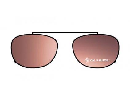 FaceCie sluneční nácvak CIE 1D ST BRS (černá/růžové zrcadlo)