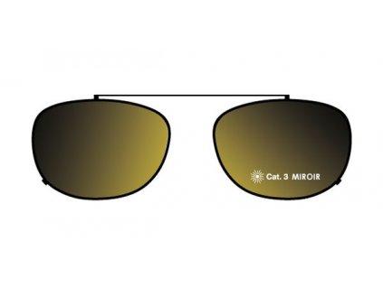 FaceCie sluneční nácvak CIE 1D ST BGO (černá/žluté zrcadlo)