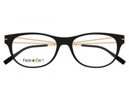 FaceCie FC 1DS NS GS, základní obruba, (černá/bronzová)