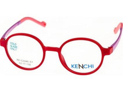Kenchi C2245-C1 sv.červená/sv.fialová (vč. 1ks slunečního klipu)