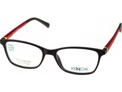 Kenchi C2246-C3 černá/tm.vínová (vč. 3ks slunečních klipů)