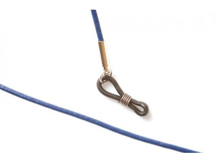 Kožená šňůrka na brýle MP405 (modrá)