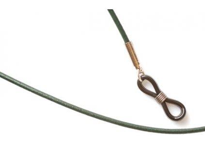 Kožená šňůrka na brýle MP405 (zelená)