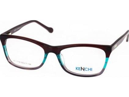 Kenchi 1719-C2 tm.vínová/zelená/šedá