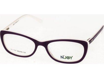 N-Joy 1707-C3 fialová/bílá