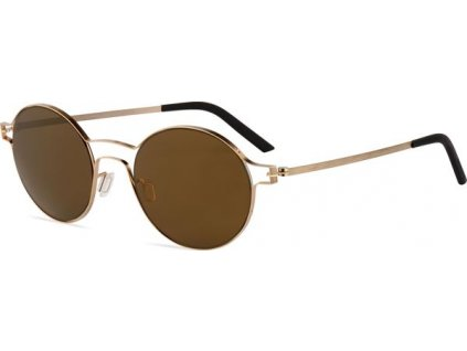 Minima Contour Sun K5-073A, Champagne Brushed (OP-Brown/Flash Gold Polarized)